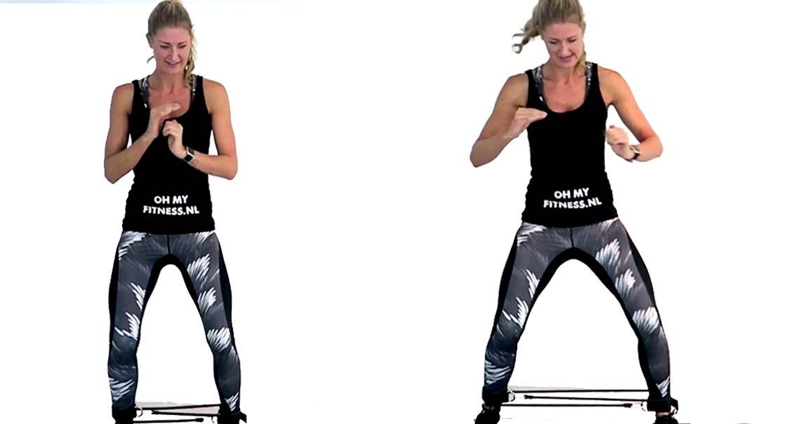 Recht links benen billen fitness elastiek